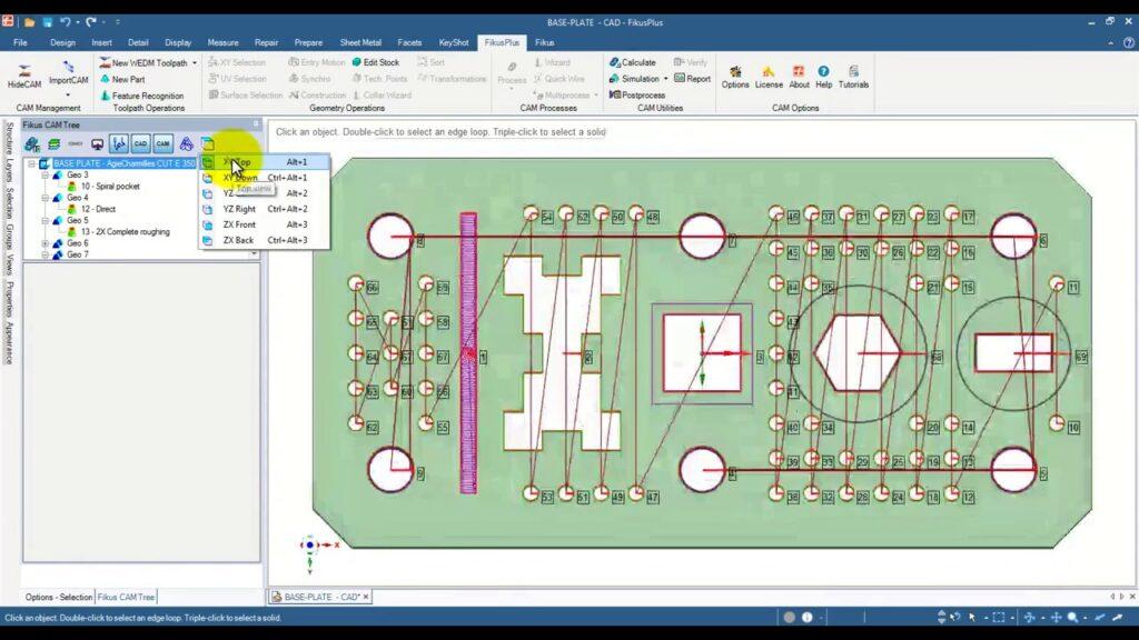 eletroerosao a fio sistema CAD-CAM software FIKUS com reconhecimento recursos automatico