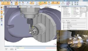 Representação de torneamento totalmente integrado no Software Cimatron CAM