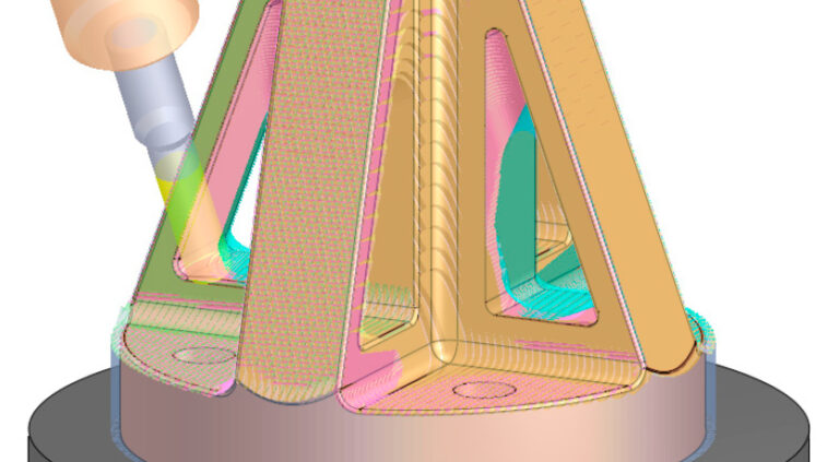 demonstração de desbaste automatizado por fresamento 5 eixos no Cimatron 15