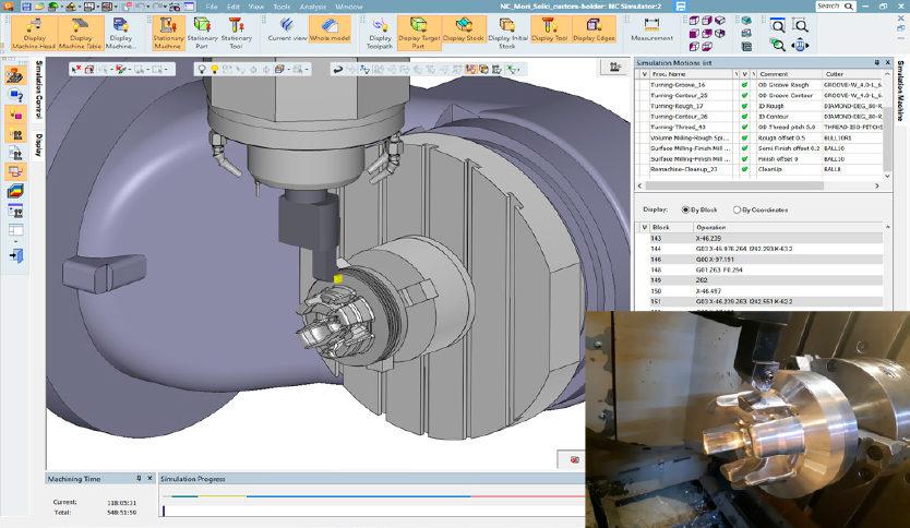 representação de usinagem em software Cimatron 15 CAM