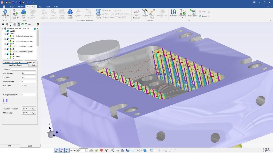 Fikus software para eletroerosão EDM
