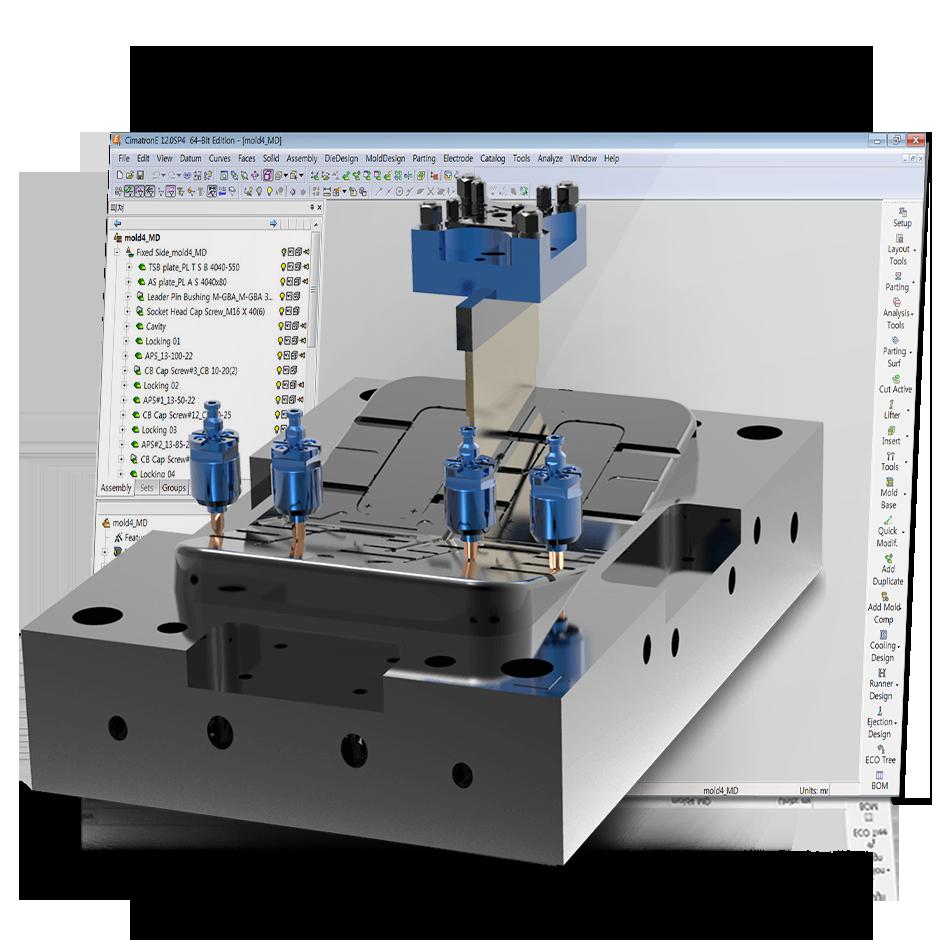Moldes de injeção de termoplásticos:extração de eletrodos automatizada